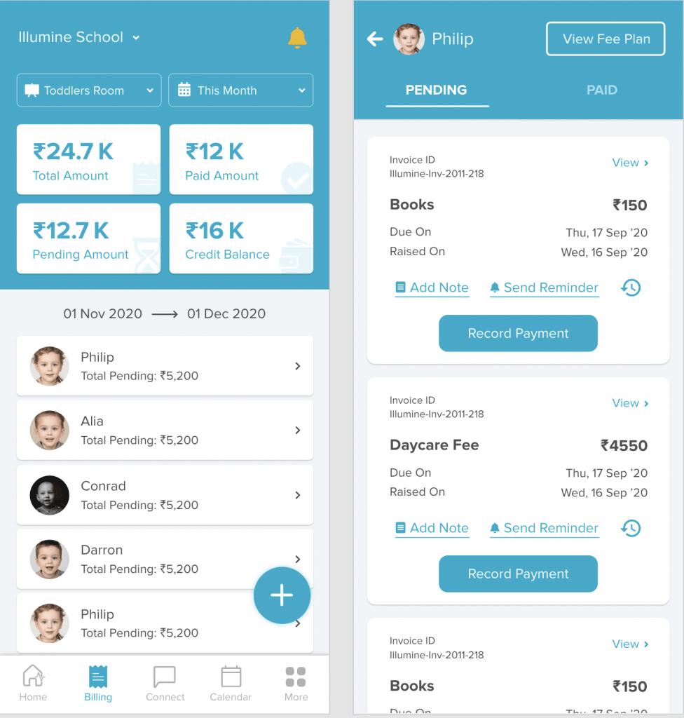 teacher billing app